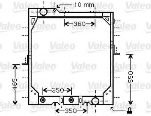 Радиатор, охлаждение двигателя VALEO 733424