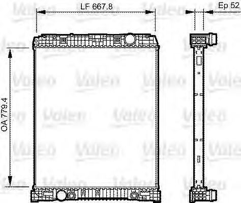 Радиатор, охлаждение двигателя VALEO 735304
