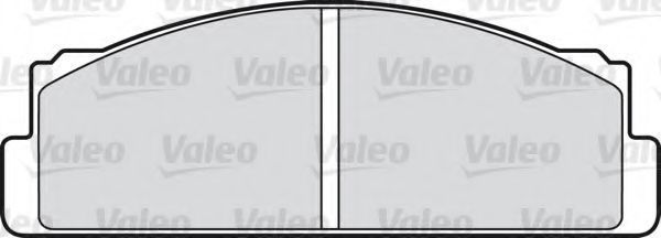 Комплект тормозных колодок, дисковый тормоз VALEO 598603