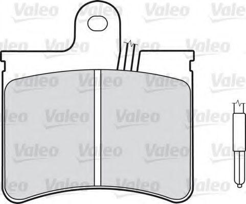 Комплект тормозных колодок, дисковый тормоз VALEO 540102