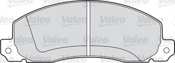 Колодки тормозные VALEO 598086