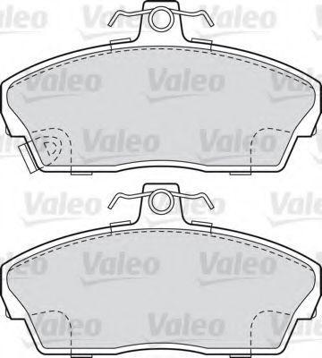 Колодки тормозные передние VALEO 598022