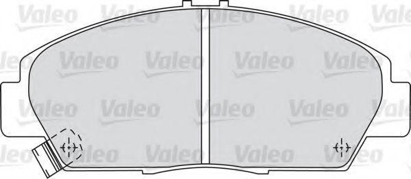 Комплект тормозных колодок, дисковый тормоз VALEO 598494