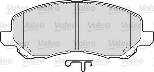 Комплект тормозных колодок, дисковый тормоз VALEO PHC 598886