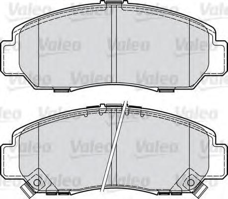 Колодки тормозные VALEO 598887