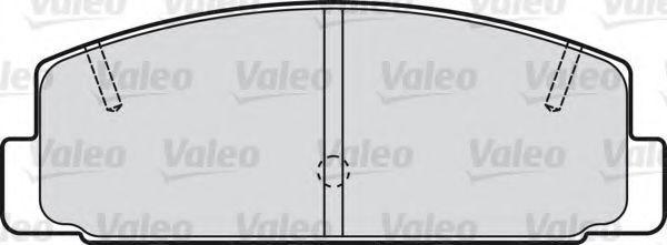 Колодки тормозные задние VALEO 598780