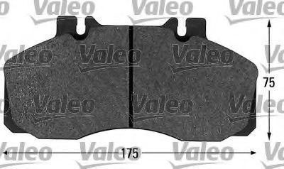 Комплект тормозных колодок, дисковый тормоз VALEO 541655