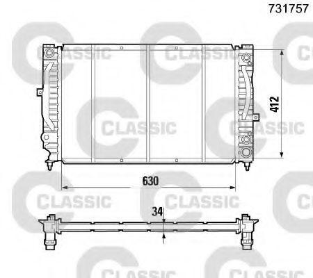 Радиатор охлаждения VALEO 231757