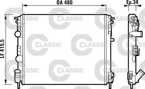 Радиатор охлаждения VALEO 232721