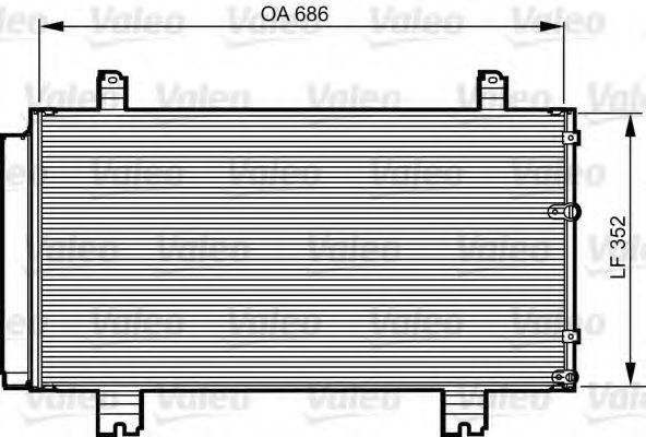 Конденсор кондиционера VALEO 814226