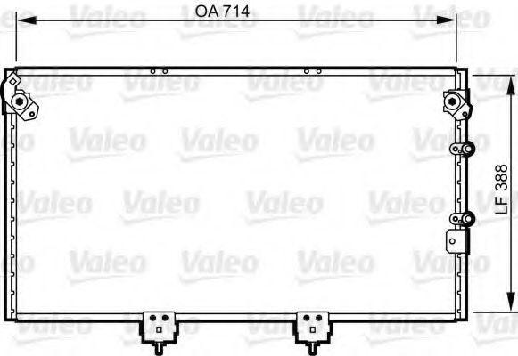 Конденсатор, кондиционер VALEO 814310