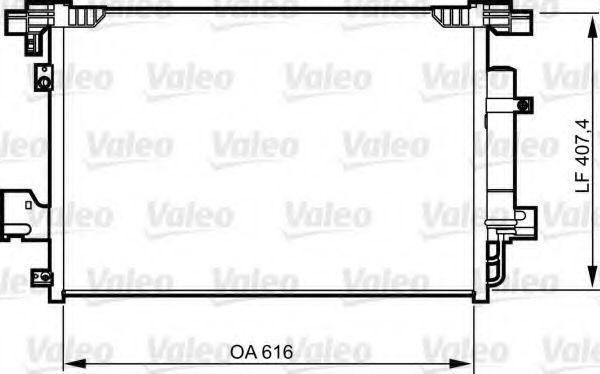 Конденсор кондиционера VALEO 814315