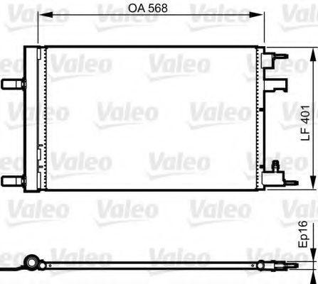 Радиатор кондиционера VALEO 814201