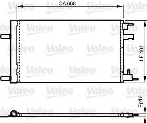 Радиатор кондиционера VALEO 814202