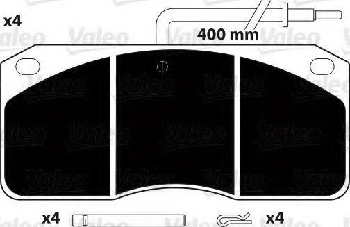 Комплект тормозных колодок, дисковый тормоз VALEO 882257