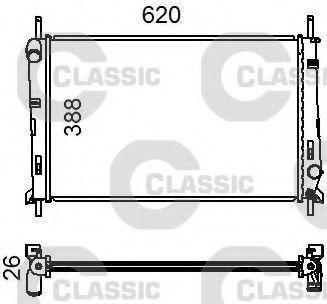 Радиатор охлаждения VALEO 231011