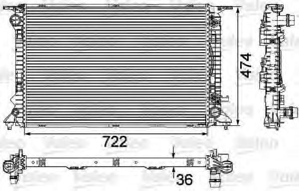 Радиатор охлаждения VALEO 735473