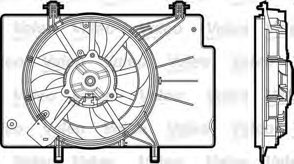 Электродвигатель, вентилятор радиатора VALEO PHC 696344