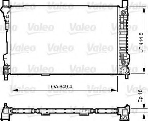 Радиатор охлаждения VALEO 735144