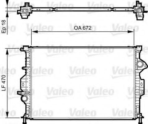 Радиатор охлаждения VALEO 735373