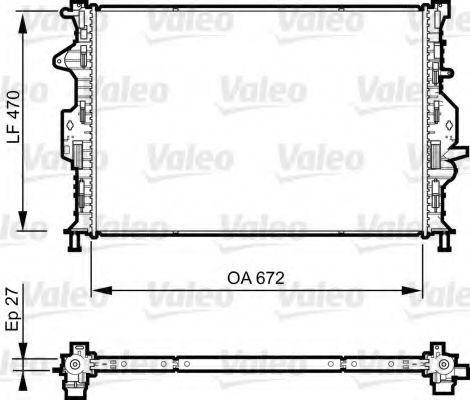 Радиатор охлаждения VALEO 735376
