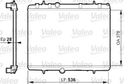 Радиатор охлаждения VALEO 735608