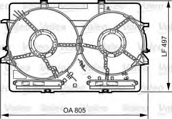 Кронштейн, вентилятор радиатора VALEO PHC 820757
