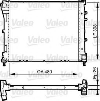 Радиатор охлаждения VALEO 735498