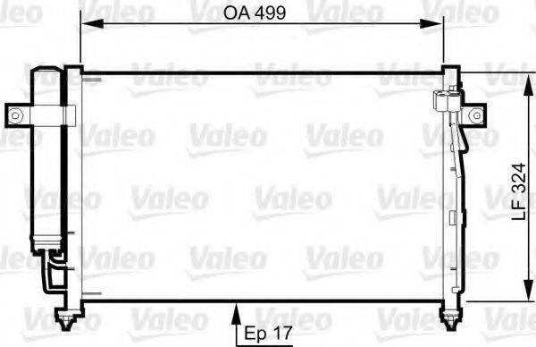 Конденсатор, кондиционер VALEO 814341