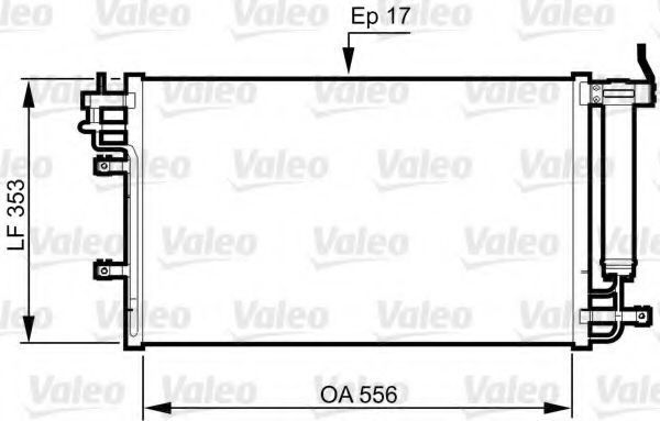 Радиатор кондиционера VALEO 814345