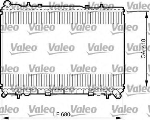 Радиатор, охлаждение двигателя VALEO 735521