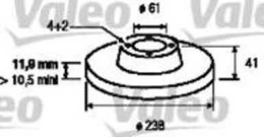 Тормозной диск VALEO 186230