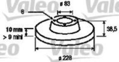 Тормозной диск VALEO 186226