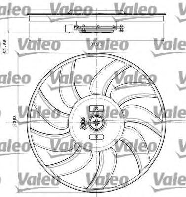 Вентилятор, охлаждение двигателя VALEO 696350