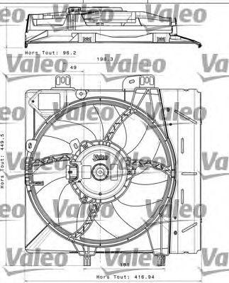 Вентилятор охлаждения двигателя VALEO 696393