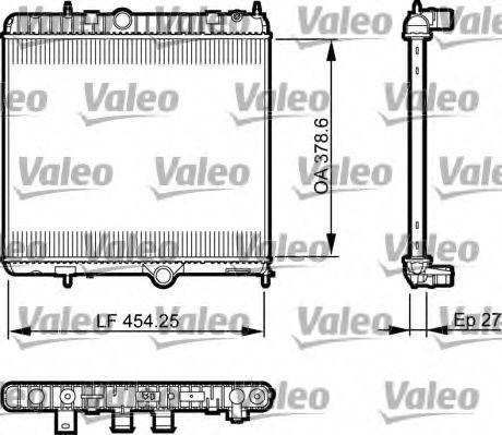 Радиатор охлаждения VALEO 735560