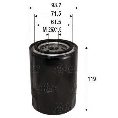 Фильтр масляный VALEO 586090