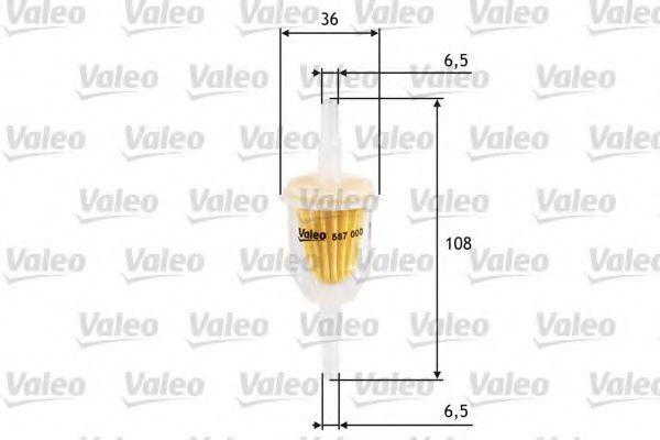 Фильтр топливный VALEO 587000