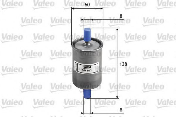Фильтр топливный VALEO 587003