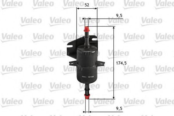 Фильтр топливный VALEO 587018