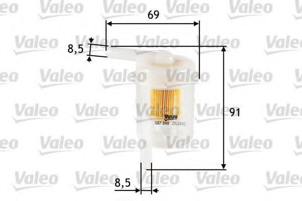 Фильтр топливный VALEO 587048