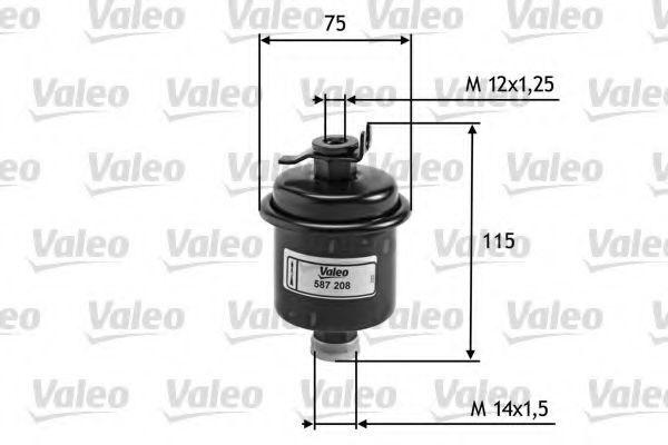 Фильтр топливный VALEO 587208