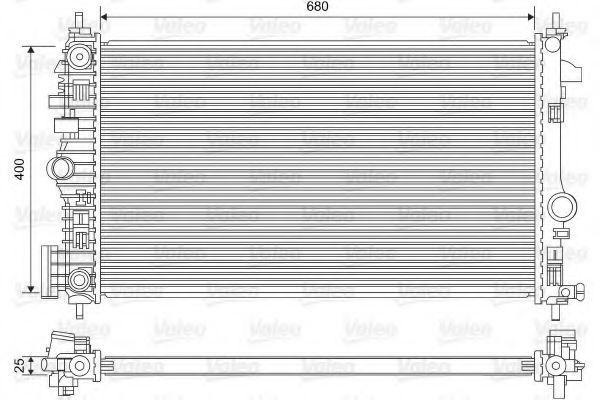 Радиатор охлаждения VALEO 735486