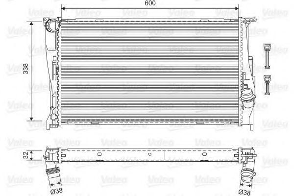 Радиатор охлаждения VALEO 701601