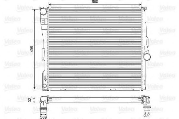 Радиатор охлаждения VALEO 701563
