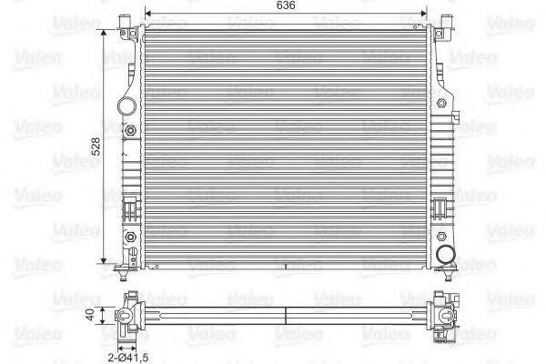 Радиатор, охлаждение двигателя VALEO 701569