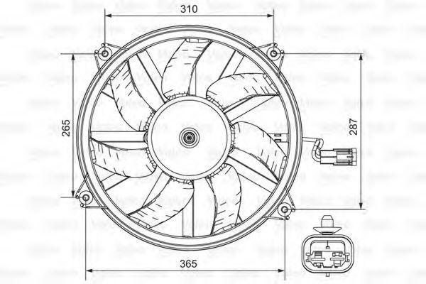 Вентилятор охлаждения VALEO 696850