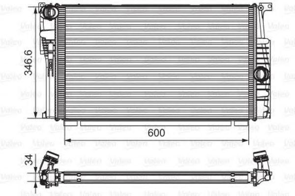 Радиатор, охлаждение двигателя VALEO PHC 735615