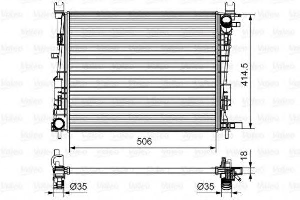 Радиатор, охлаждение двигателя VALEO 735634