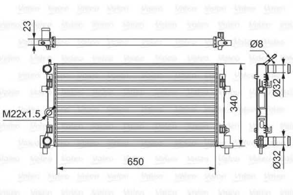 Радиатор охлаждения VALEO 701522